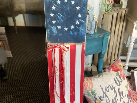 Red, White, and Fun: DIY Flag Porch Sign Tutorial