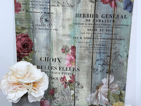 How to create old from new: DIY Vintage Wall Decor
