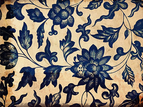 Blue Indigo Floral