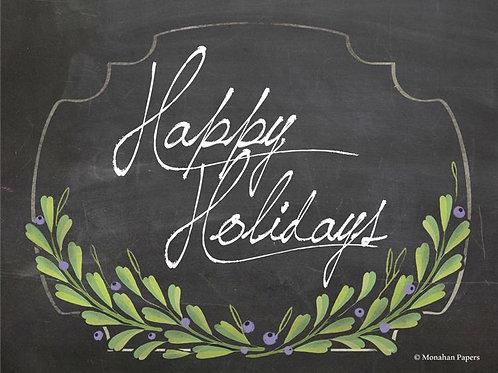 Happy Holidays Chalkboard Finish