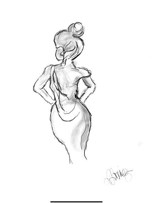 Lovely Lady Digital Image