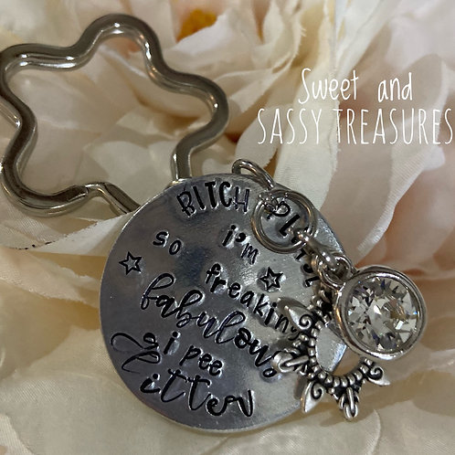 Hand Stamped Key Chain/Purse Charm