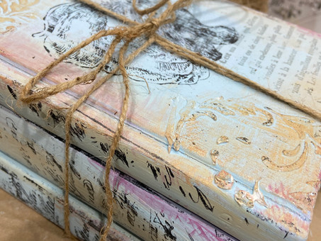 Step by Step Tutorial: Take books from new to vintage, Boho Style