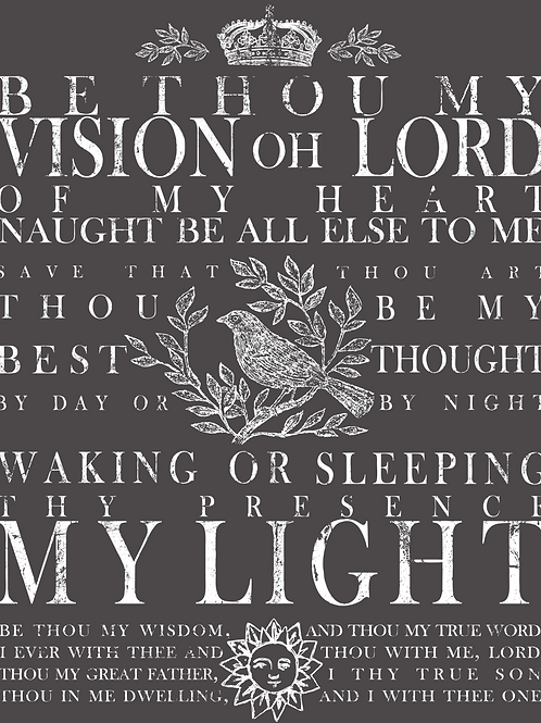"Be Thou my Vision 24"" by 33"" Transfer"