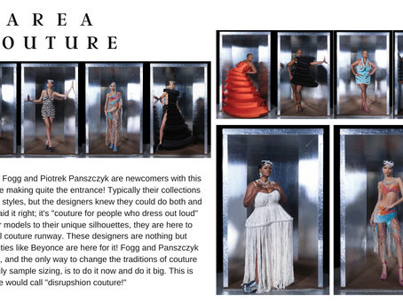 AREA Turns Their Ready-to-Wear Into a New Eye Catching Couture for Couture Fashion Week 2021