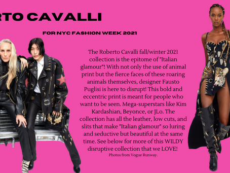 """Roberto Cavalli's Fall/Winter 2021 Collection is Roaring with """"Italian Eclectic"""" Designs!"""