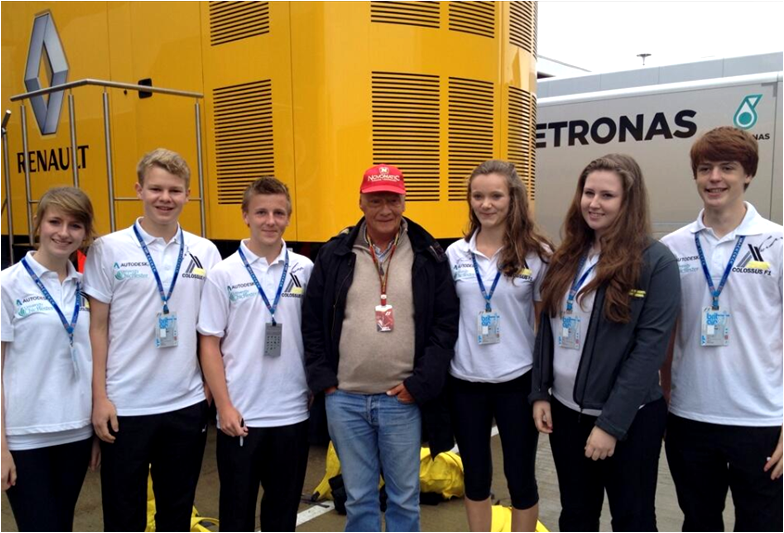 With Niki Lauda at Silverstone