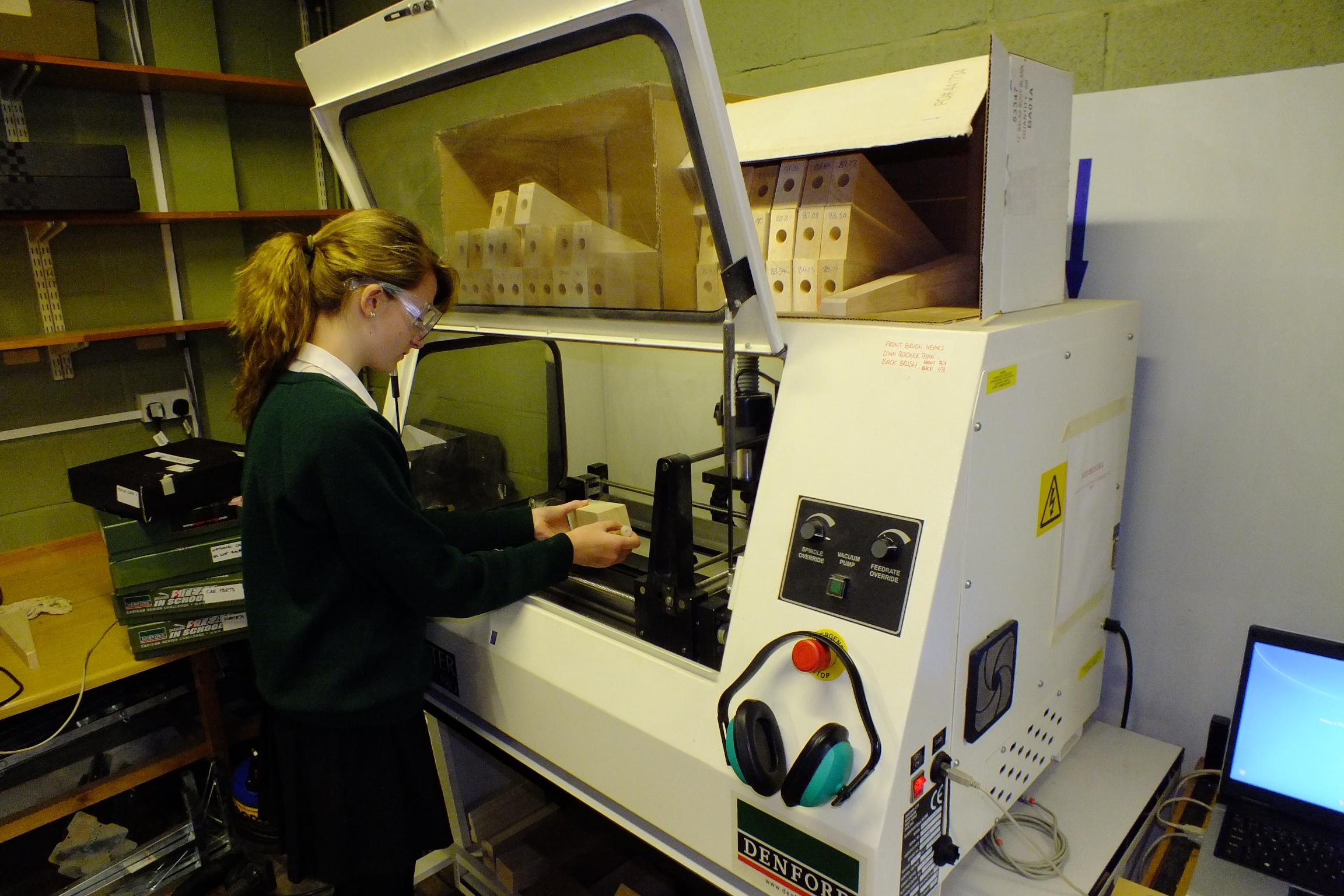 Using our CNC machine to manufacture