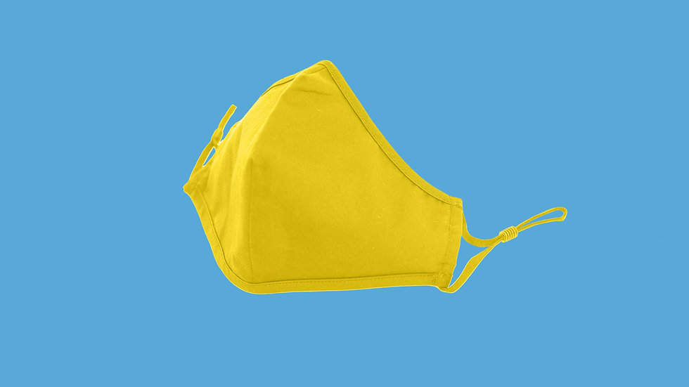 Yellow Adult Reusable Mask Type A