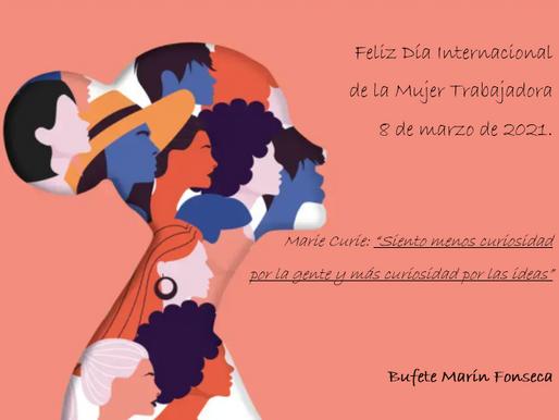 4 de marzo de 2021. día de la mujer trabajadora