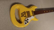 The Maxie Yellow Hammer Guitar Walking Cane
