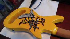 The Maxie Yellow Hornet Guitar Walking CaNE
