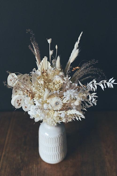 LOLA, le bouquet de fleurs séchées et son vase