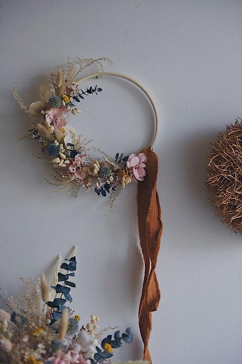 AMA, la demie couronne de fleurs séchées