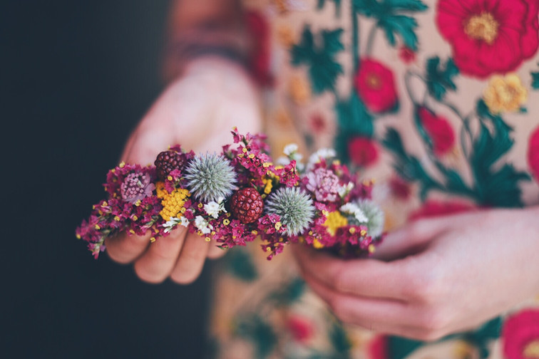 Barette de fleurs mariée