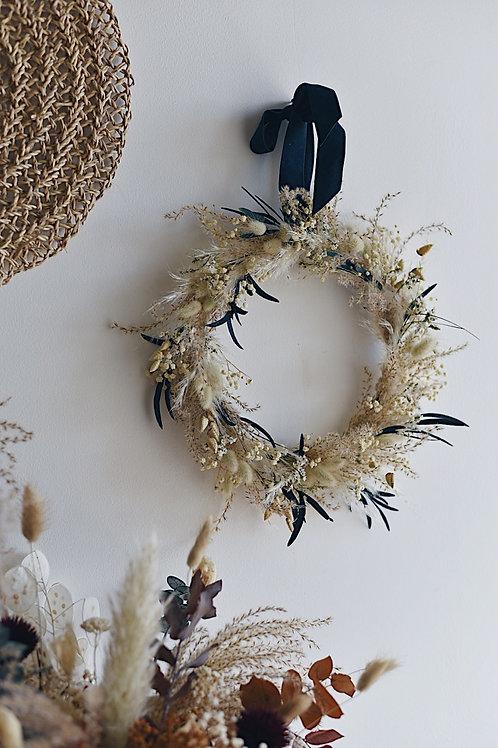 MALO, la couronne de fleurs séchées