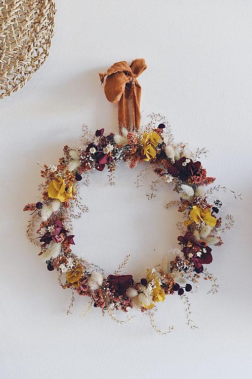 JEANINE, la couronne de fleurs séchées