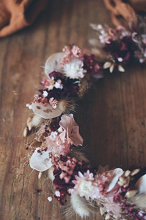 MARTHA,la couronne de fleurs séchées