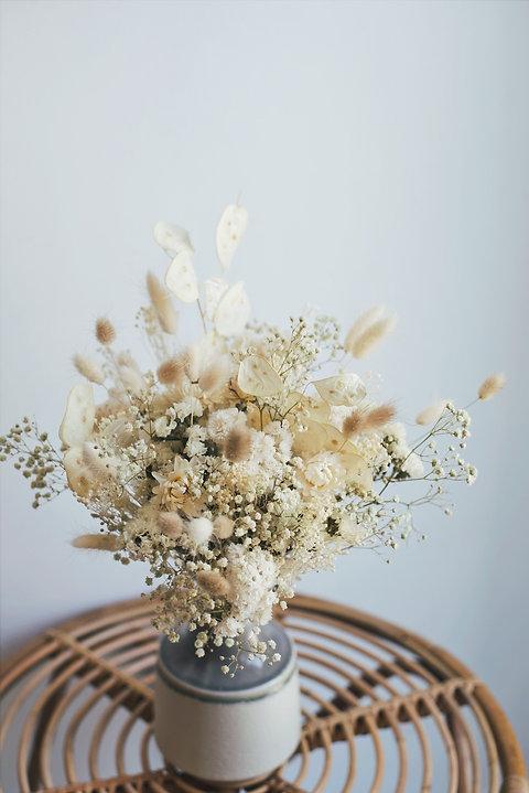 BLANCHE,le bouquet de fleurs séchées