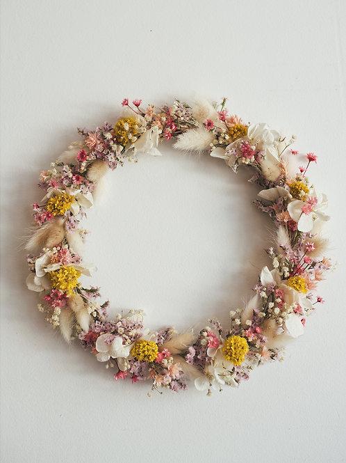 ALBA, la couronne de fleurs séchées