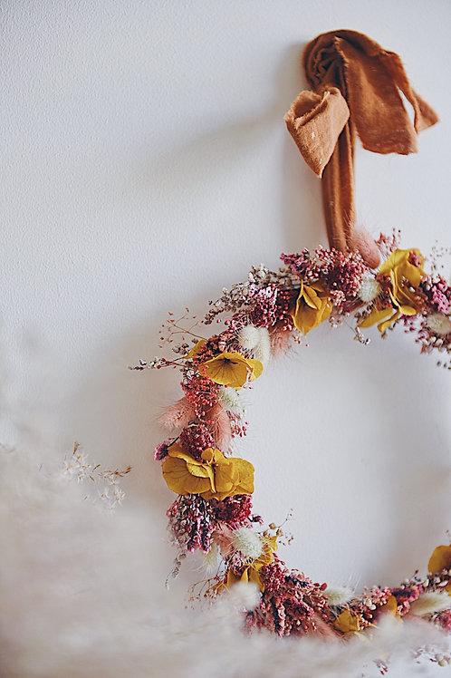 BETTY, la couronne de fleurs séchées