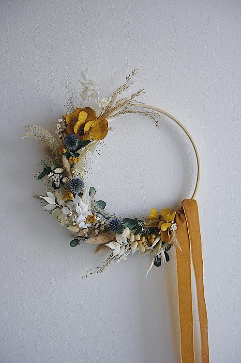 ANDRÉA, la demie couronne de fleurs séchées