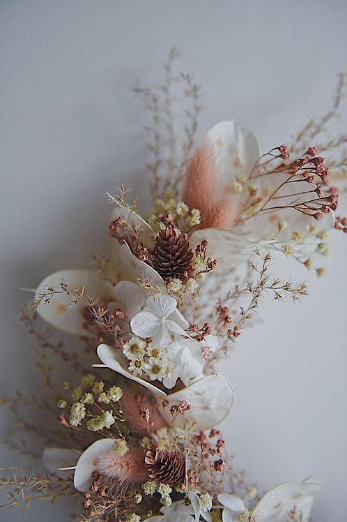 NINA, la demie couronne de fleurs séchées
