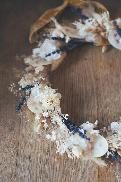 GABY, la couronne de fleurs séchées