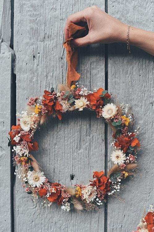 CAPUCINE, la couronne de fleurs séchées