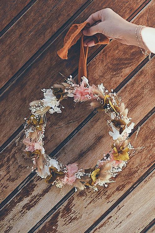 SIMONE, la couronne de fleurs séchées