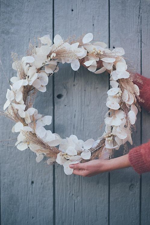 LUNA, la couronne de fleurs séchées et stabilisées