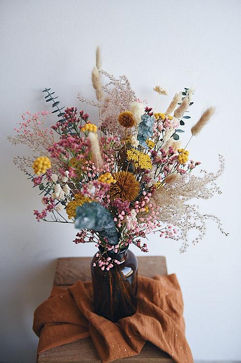 EDMOND, le bouquet de fleurs séchées et son vase