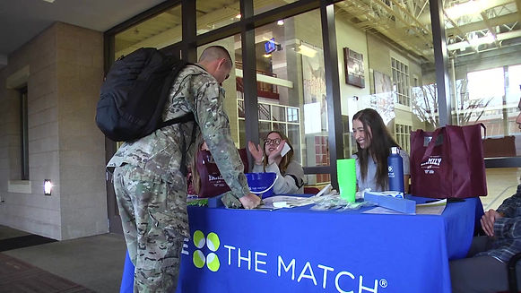 For our first package, my partner and Ihighlighted volunteers who worked to register new people for Be the Match, the national bone marrow registry.