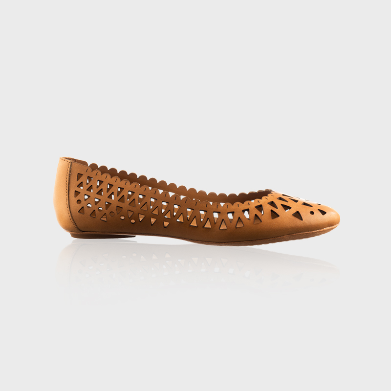 Brown Cutout Shoe