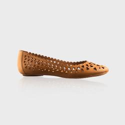 Brown Cutout Shoe