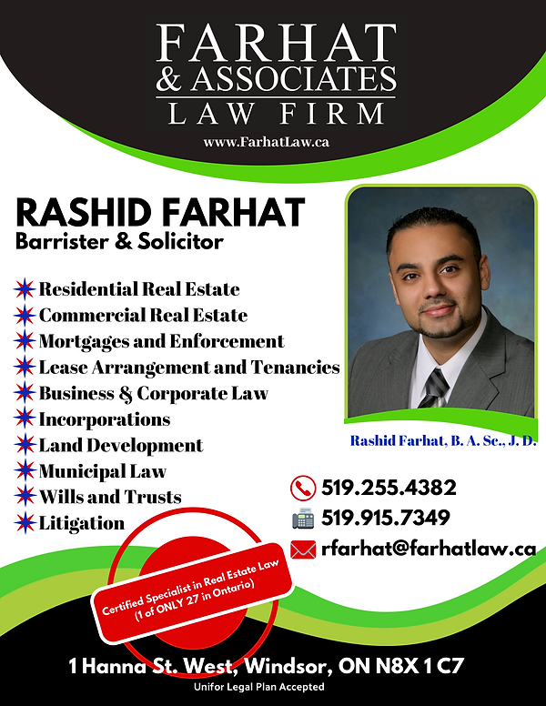 Advertisement - Farhat Law Firm White.pn