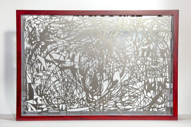 Cuore (reverso), 2016 54x80x10 cm. Acero