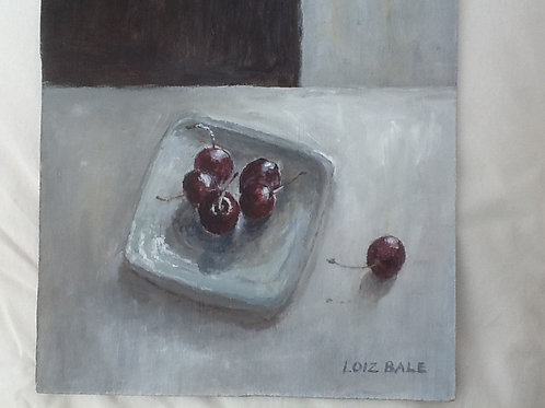 Five Cherries on a Dish
