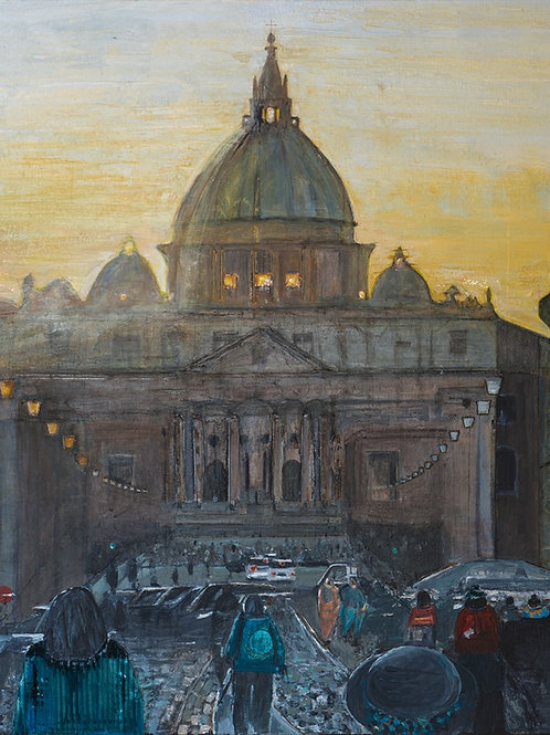 Sunset over the Vatican, Rome