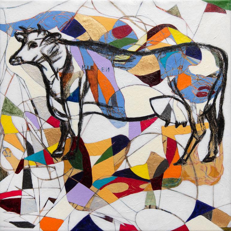 Vaca de Baca 2020 70x70 cm. Acrílico sobre tela.