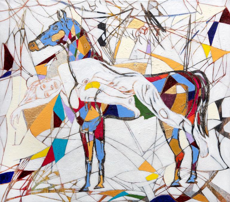 Devenir caballo, 2020 70x80 cm. acrilico sobre tela.