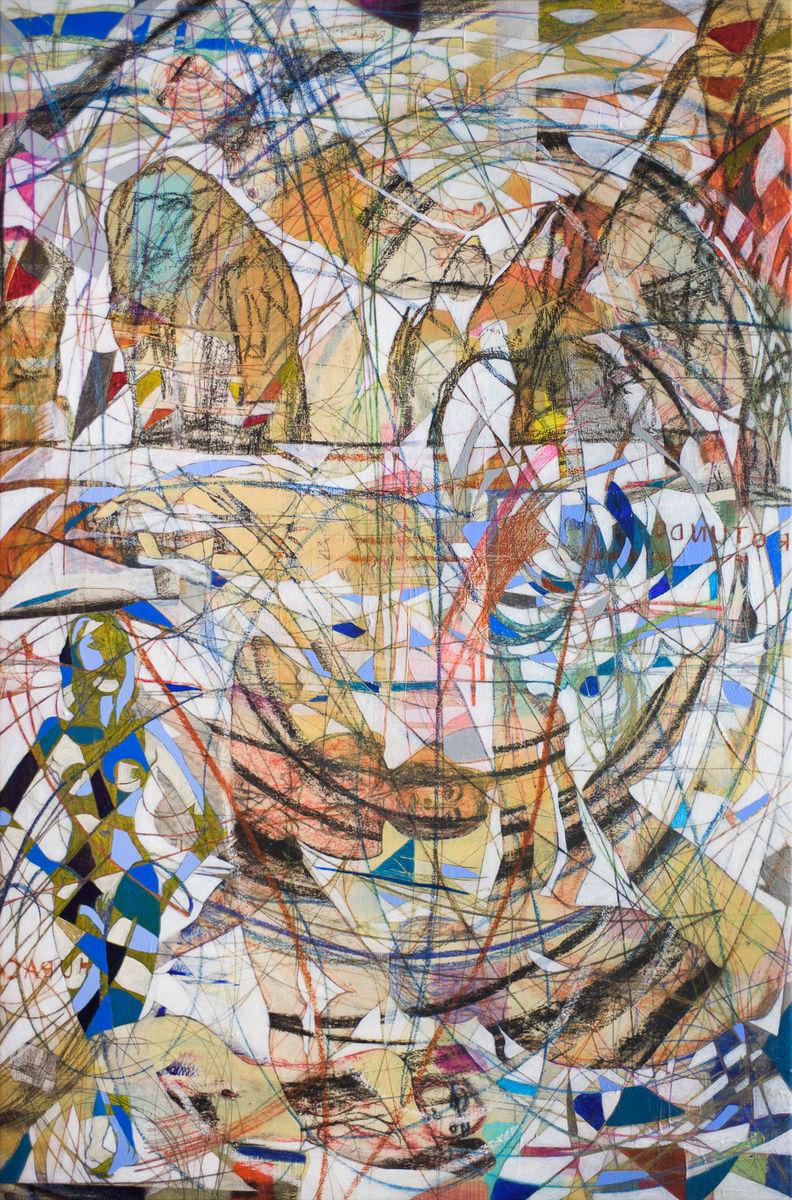 Arco, 2015 184x122cm Acrílico y papel japonés sobre tela
