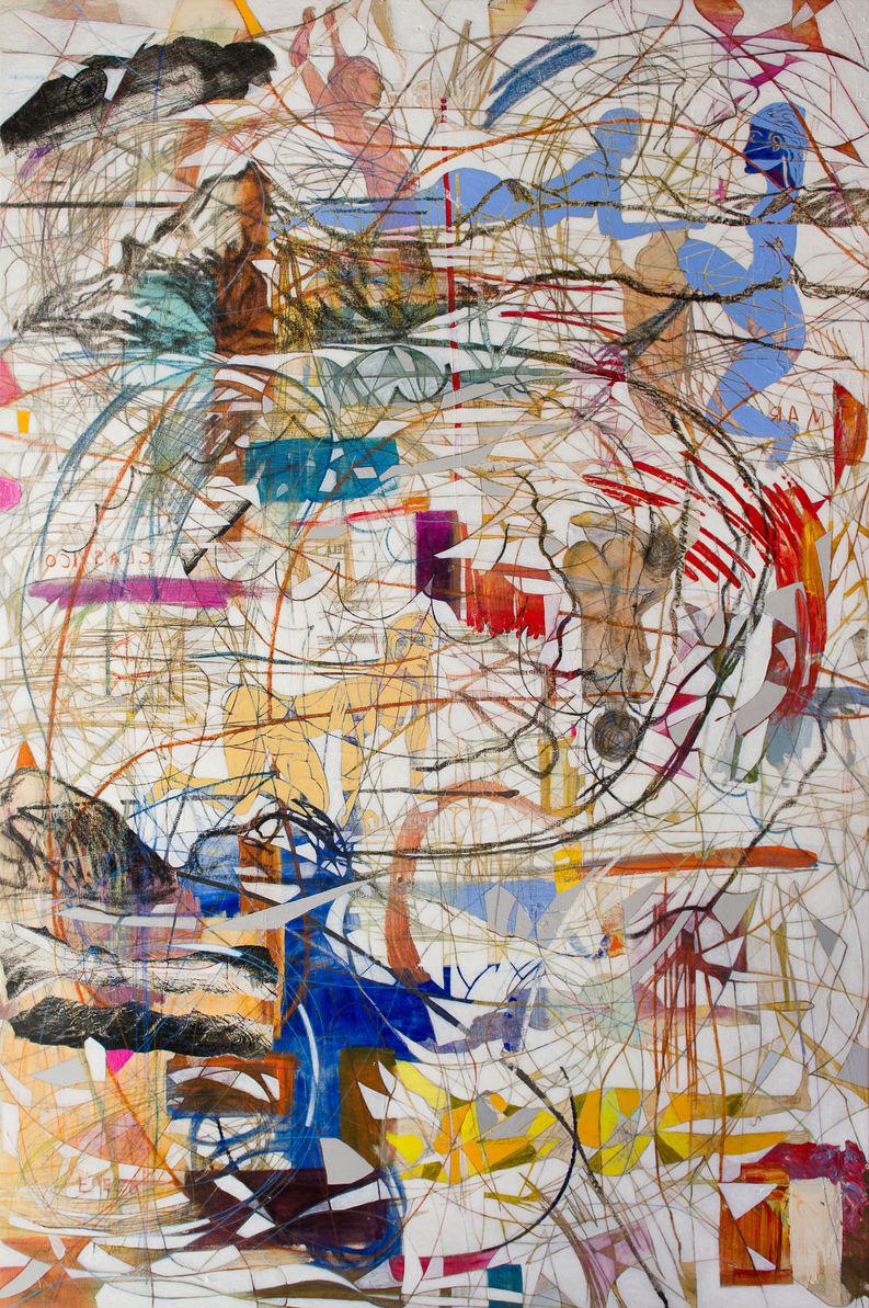 Bahía, 2016 274x182 cm Acrílico, grafito y papel japonés sobre tela