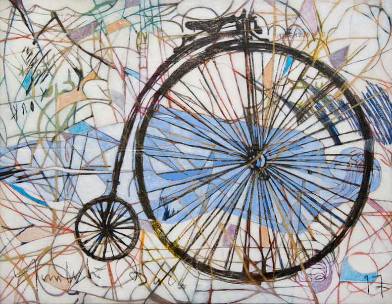 Biciclo, 2018 70x90 cm Acrílico sobre tela