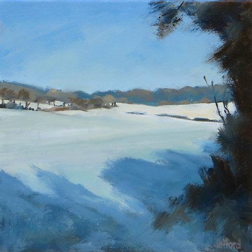 Valley Folds Under Snow
