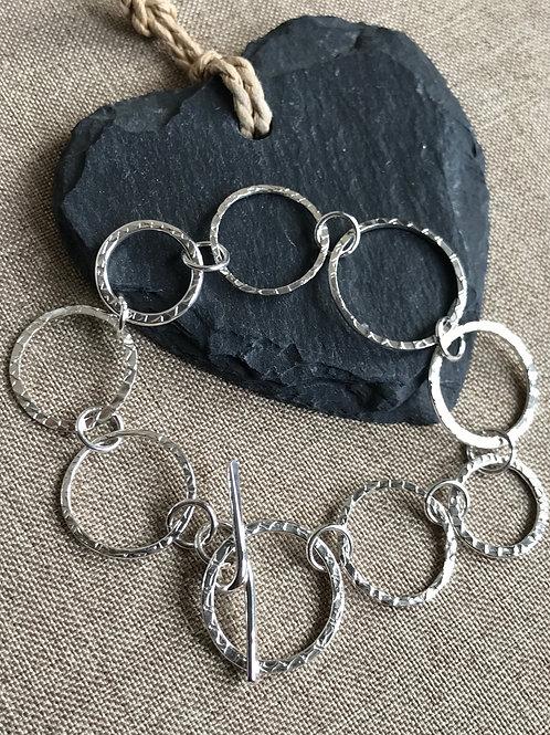 'Textured Circles' Bracelet
