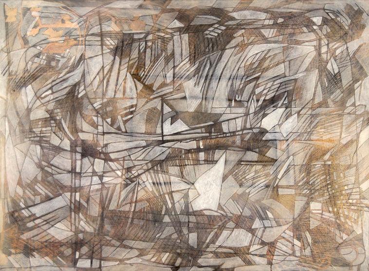 Ninfa 139x102 cm Acrílico y grafito sobre tela