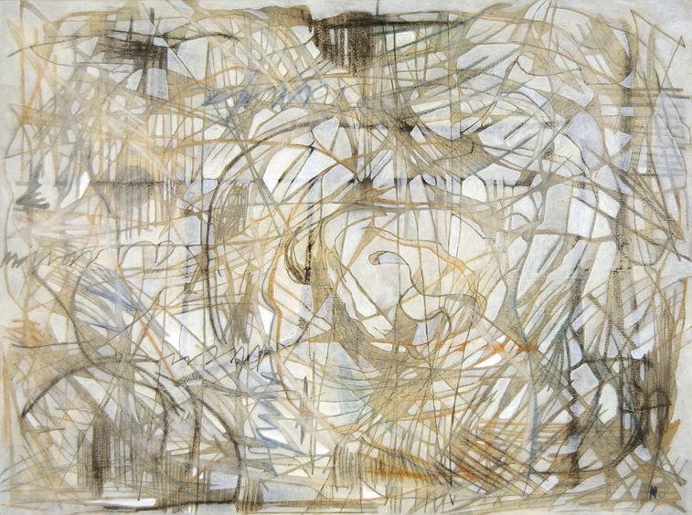 Ninfa pasionaria 103x139 cm Acrílico y grafito sobre tela