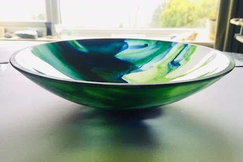 Blue and Green Art Bowl