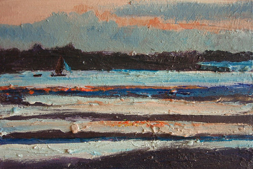 Blue Glints, Orange Gold, Last Boat In